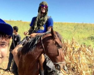 Thomas on his horse